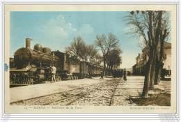 Algerie - BATNA - Interieur De La Gare (avec Train En Gros Plan) - Batna