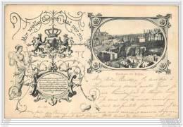 Luxembourg - Rochers Du Rahm En 1899 + Blason / Armes - Luxemburg - Stadt
