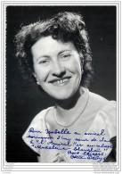 Autographe Et Dedicace D'Odette Dedys Au Cabaret L'Amiral Et Madeleine Shangaï - Chanteurs & Musiciens