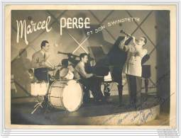 Photo Dedicace De Marcel Perse Et Son Swingtette A Cannes - 10 Bd De La Source - Jazz Annees 1940 - Signiert