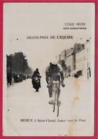 """En L'état Sport Cyclisme """"Grand Prix De L'EQUIPE"""" REMUE à Saint-Cloud Fonce Vers Le Parc ** 92 St - Photography"""