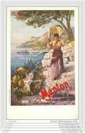 Publicite Du Chemin De Fer P.L.M. - Ville De MENTON - Pubblicitari