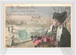 89 - De CHAMPIGNELLES Je Vous Envoie Ces Fleurs Et Tous Mes Voeux De Bonne Annee - Altri Comuni