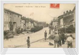 54 - CHAMBLEY BUSSIERES - Grande Rue - Salut Au Drapeau (animee) - Chambley Bussieres