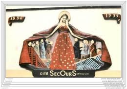75 - PARIS - Secours Catholique - Fronton De Notre Dame - Sans-logis 1954-1955 - Notre Dame De Paris