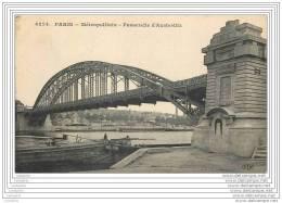 75013 - PARIS - Metropolitain - Passerelle D Austerlitz - Peniche - Arrondissement: 13