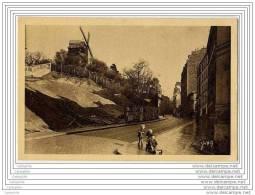 75 - PARIS MONTMARTRE - Le Moulin De La Galette (enfants Sur Une Charette En Bois Jouet Jeux) - Arrondissement: 18