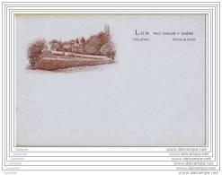 71 - LUX Pres Chalon - Carte De Visite (pas Carte Postale) Dos Vierge - Tarjetas De Visita