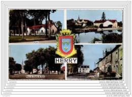 18 - HERRY - Carte 4 Vues Multiples (cpsm Dentelee) - Non Classés
