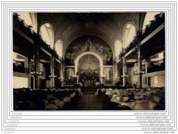 75 - PARIS - Carte Photo De La Chapelle Des Filles De La Charite Pendant Une Messe - Rue Du Bac - Arrondissement: 07
