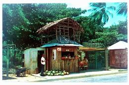#308   Wooden Pavilions, Fruit Vendors Row At 'LUQUILLO' Beach - PUERTO RICO Caribbean Islands - US Postcard - Postcards