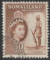 Somaliland Protectorate SG141 1953 Definitive 30c Good/fine Used [37/30914/2D] - Somaliland (Protectorate ...-1959)