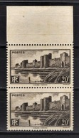 FRANCE 1941 - PAIRE  Y.T. N° 501 - NEUFS** - France