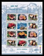North Korea 2002 Mih. 4526/30 Flora. Mushrooms (M/S) MNH ** - Corea Del Norte