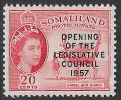 Somaliland Protectorate SG149 1957 Opening Of Legislative Council 20c Mounted Mint [37/30917/2D] - Somaliland (Protectorate ...-1959)