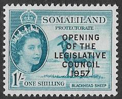 Somaliland Protectorate SG150 1957 Opening Of Legislative Council 1/- Mounted Mint [37/30918/2D] - Somaliland (Protectorate ...-1959)