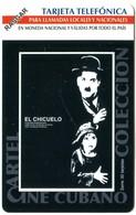 Cuba Etecsa Urmet - CU-UR-041 El Chicuelo (Charlie Chaplin) (MINT) - Cuba