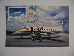 "BRAZIL - MAXIMUN MAXIMUM ""AIRPLANE EMB 120 - BRASILIA"" IN THE STATE - Vliegtuigen"