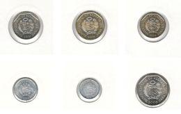 Peru. Set Of Coins. 1, 5, 10, 20, 50 Sentimo, 1 Nuevo Sol. UNC. 2008-2009 - Peru
