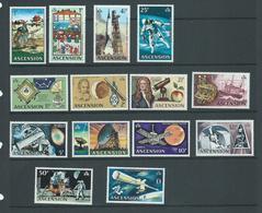Ascension 1971 Decimal Space Travel Definitive Set Of 14 MLH - Ascension