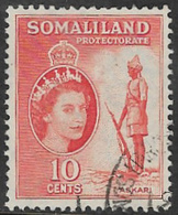 Somaliland Protectorate SG138 1953 Definitive 10c Good/fine Used [37/30921/2D] - Somaliland (Protectorate ...-1959)