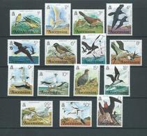 Ascension 1976 Bird Definitives Short Set Of 15 To 1 Pound MLH - Ascension