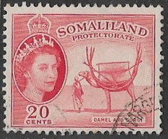 Somaliland Protectorate SG140 1953 Definitive 20c Good/fine Used [37/30922/2D] - Somaliland (Protettorato ...-1959)