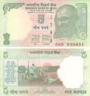 India. Banknote. 5 Rupees. 2010. UNC. Mahatma Gandhi - India
