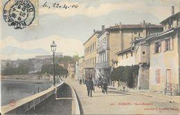 Romans - Quai Dauphin - Collection P. Peyrouze - Carte N° 301 Colorisée - Romans Sur Isere