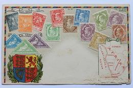 Cap Der Guten Hoffnung Philatelie Ansichtskarte Zieher Nr 95 /Cape Of Good Hope, Philatelic Postcard /Carte Philatelique - Stamps (pictures)