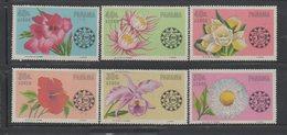 Panama 1966 Full Set Mi 856-861 Flowers Orchids - Panama