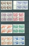 NICARAGUA - 1986  - USED/OBLIT. - Yv 1411-1418 -  Lot 17029 EN BLOC DE 4 - Nicaragua