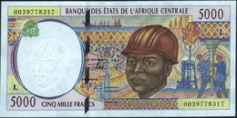 CENTRAL AFRICAN STATES 5.000 Francs 2000 {Gabon} AU-UNC P.404 Lf - Zentralafrikanische Staaten
