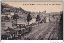 47) PORT  SAINTE  MARIE (Lot Et Garonne) Ligne Du Midi Et Vue Générale - France