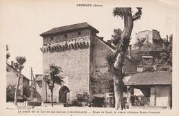 Carte Postale Ancienne De L'Isère - Crémieu - La Porte De La Loi Et Son Balcon à Machicoulis - Crémieu