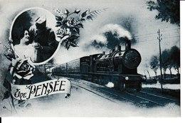 THEMES=TRANSPORTS...Une Pensée N1 - Cartes Postales