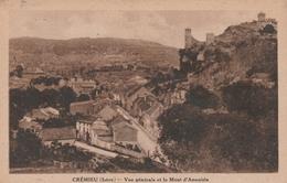 Carte Postale Ancienne De L'Isère - Crémieu - Vue Générale Et Mont D'Annoisin - Crémieu