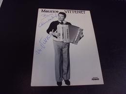 MAURICE VITTENET ...ACCORDEONNISTE - Singers & Musicians