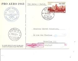 Suisse - Aérophilatélie ( Carte Postale Commémorative De 1943 De Berne Vers La Belgique à Voir) - Storia Postale
