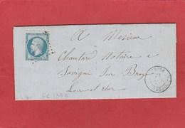 Loir Et Cher - Droue - GC 1353 Sur N°22 - LAC 1865 - Marcophilie (Lettres)