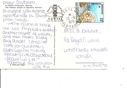 Polynésie ( CP De 1978 De Papeete Vers La Grande-Bretagne à Voir) - Covers & Documents