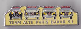 PIN'S THEME RALLYE PARIS DAKAR 91  TEAM ALTE - Rallye