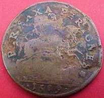 JETON 1589  PER SAXA PER IGNES , ROI HENRI IV LE GRAND Sur CHEVAL FRANCE OLD TOKEN KING ON HORSE - Royal / Of Nobility