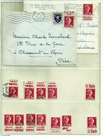 N° 1011 Marianne De Muller -lot De 14 Timbres Avec Publicité - 1955- Marianne (Muller)
