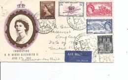 Nouvelle-Zélande ( Lettre Premier Jour Par Avion De 1953 De Wellington Vers La Grande-Bretagne à Voir) - Nouvelle-Zélande