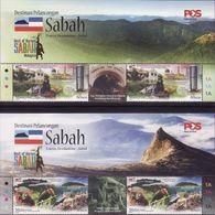 Malaysia 2018-10 Sabah MNH With Title Train Fauna Bird Marine Coral Mountain - Malesia (1964-...)