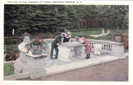 Sun Dial In Gardens At Yaddo, Saratoga Springs, New York, USA Vintage Unused - Saratoga Springs