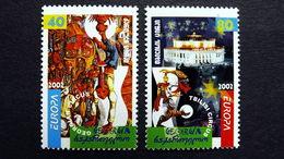 Georgien 397/8 A **/mnh, EUROPA/CEPT 2002, Zirkus - Georgië