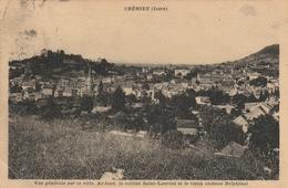 Carte Postale Ancienne De L'Isère - Crémieu - Vue Générale Sur La Ville - Crémieu