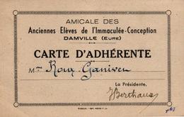 AMICALE DES ANCIENNES ELEVES DE L'IMMACULEE CONCEPTION - DAMVILLE -27- MME ROUX GANIVER - Vieux Papiers